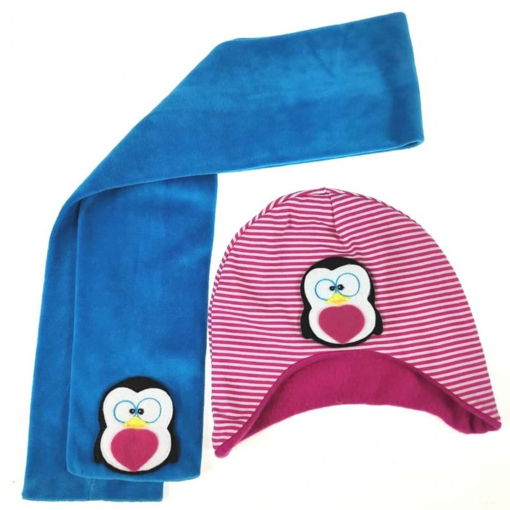 Kit-Touca-e-Cachecol-Pink-e-Azul-Royal-Pinguim