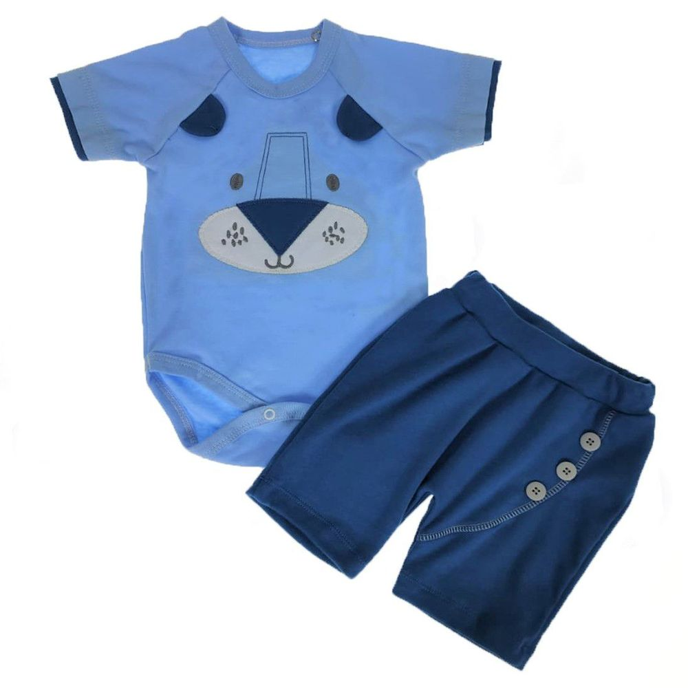 Conjunto-Body-e-Shorts-Azul-com-Bordado-G